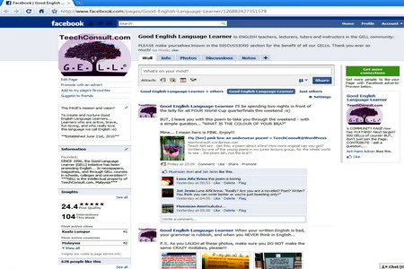 The GELL page on FaceBook!