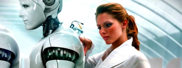 Bukan gambaran janda muda memperbaiki robot duda